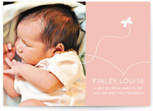 Butterfly Kisses Birth Announcements