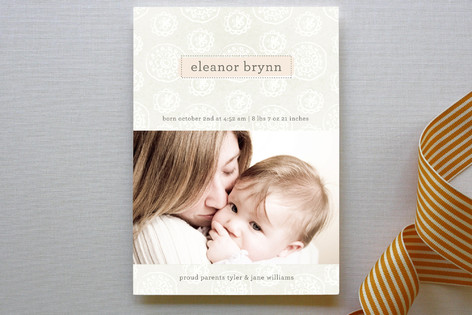 Softly Woven Birth Announcements