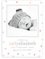 Delicate Dots Birth Announcements