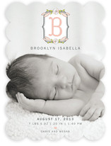 Meadow Monogram Birth Announcements
