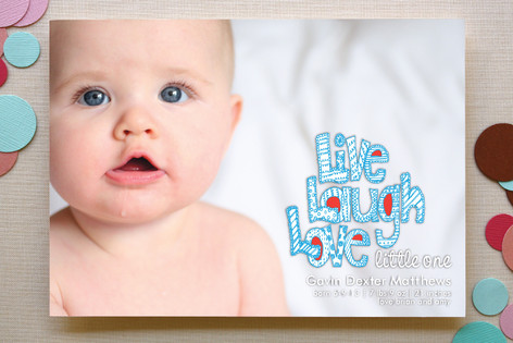 Live Laugh Love Little One Birth Announcements