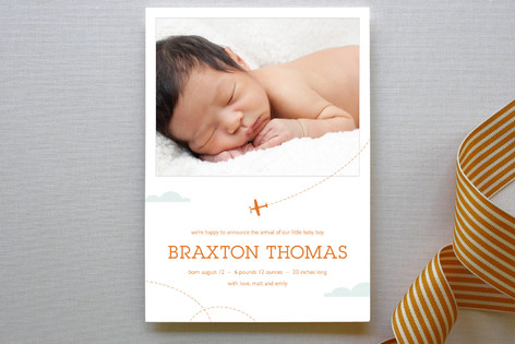 little aviator Birth Announcements