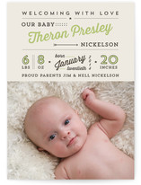 All Star Birth Announcements
