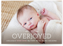 Overjoyed Birth Announcements