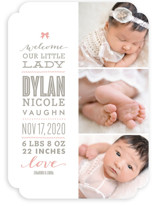 Little Lady Birth Announcements