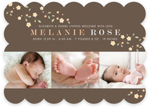 Pretty Blossoms Birth Announcements