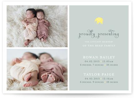 petit elefant Birth Announcements
