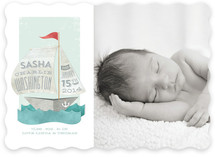 Newspaper Sailboat Birth Announcements