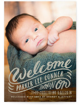 Welcome Sign Birth Announcements
