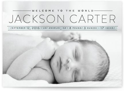 Modern Baby Birth Announcements