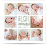 Darling Photo Grid Birth Announcements