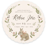 Woodland Bunny Birth Announcements