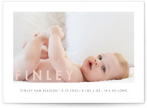 Simply Baby Birth Announcements