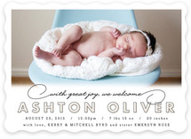 Warm Welcome Birth Announcements