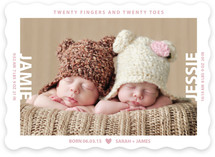 Twenty Fingers And Twenty Toes Birth Announcements