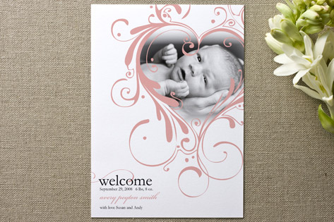 Swirly Twirly Love Birth Announcements