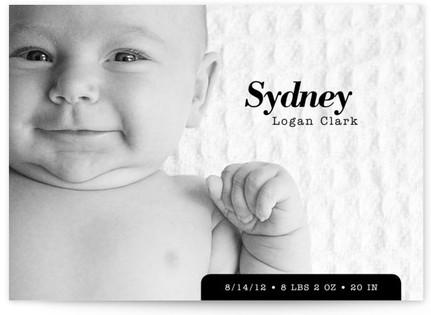 Urban Baby Birth Announcements