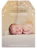 Confetti Glamour Birth Announcements