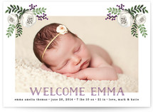 Floral Baby Birth Announcements