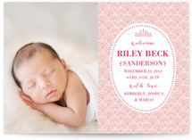 Delicate Shell Birth Announcements