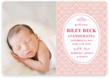 Delicate Shell Birth Announcements