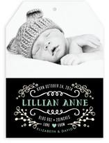 Sweet Chalkboard Birth Announcements