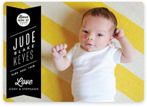 Ribbon Banner Birth Announcements
