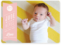 Ribbon Banner Birth Announcements