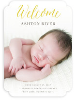Angelic Welcome Birth Announcements