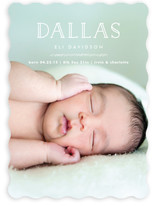 Clean and Crisp Baby Birth Announcements