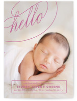 Fancy Hello Birth Announcements