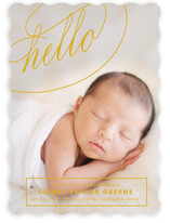 Fancy Hello Birth Announcements