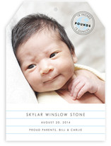 Simple Stamp Birth Announcements