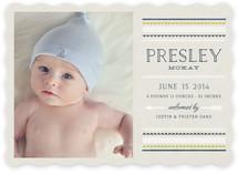 Festive Border Birth Announcements