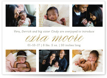 Little Details Birth Announcements