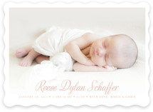 Scripted Baby Birth Announcements