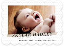 Crib Sheet Birth Announcements