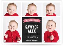Baby Photo Blocks Birth Announcements