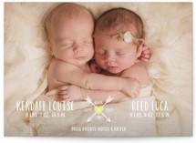 Heart & Arrows Birth Announcements