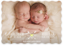 Heart & Arrows Birth Announcements