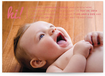 Baby Talk Birth Announcements