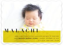 Elegant Overlap Birth Announcements