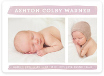 Brushstroke Baby Birth Announcements