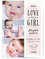 Love This Girl Birth Announcements