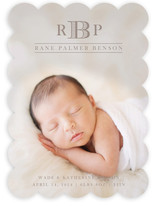 Mini Monogram Birth Announcements