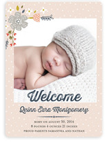 Baby Bloom Birth Announcements