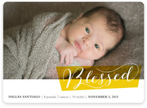 Blocked Blessed Birth Announcements