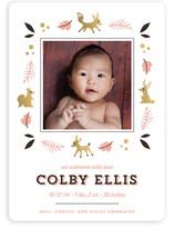 Autumn Baby Birth Announcements
