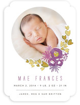 Sweet Blossom Birth Announcements