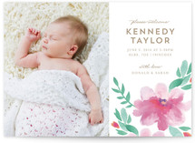 Spring Lilies Birth Announcements